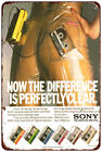 Sony Cassette Tape Walkman Vintage Reproduction Metal Sign 8 x 12