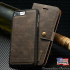 iPhone 8 7 6S Plus Leather Magnetic Flip Cover Removable Wallet Card Slot Case
