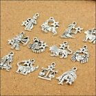 Mixed Zodiac Alloy Dangle Beads Accessories Charm Pendant For Jewelry Making