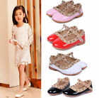 US Girls Kids Fashion Casual Rivet T strap Flats Toddler Sandals Pointed Shoes