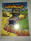 Earthshaker Williams 1989 Pinball NOS ORIGINAL ARCADE GAME FLYER CLASSIC