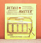 1/12 DETAIL MASTER LICENSE PLATE FRAMES PHOTO ETCH KIT # 2021