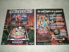 2 ORIGINAL WILLIAMS DIRTY HARRY PINBALL MACHINE BROCHURE  FLYERS