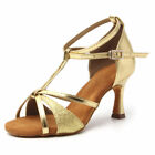 Hot Sale Womens Ballroom Tango Latin Dance Shoes Heeled Salsa Dancing Girls