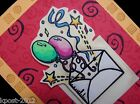 Birthday Mail rubber for Permanent Wood Mounting Rubber Stamp