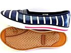 NEW GIRLS ANDERSSON SHOES sz 2M BLUE NAVY GLITTER WHITE STRIPS MEMORY INSOLE