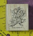STAMPIN UP ROSE BOUQUET flowers wedding anniversary love rubber stamps 3281