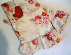 WAVERLY Garden Room Norfolk Rose 2 Standard Pillowcases Ruffled USA