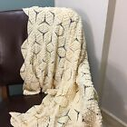 Hand Crochet Table Runner Doily Beige Table Doilies Cotton vintage collectible