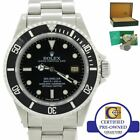 Rolex Sea-Dweller Stainless Steel 16600 K 40mm Date Black Diver Dive Watch w/Box