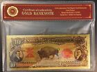 Gold Plated Bank Note, novelty with certificate of authenticity