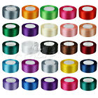 1 Roll 25 Yards Satin Ribbon Craft 15 38mm Wide Bow Wedding Party Supplies Hot