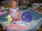 ZAPF BABY BORN DOLL BOTTLE PACIFIER POTTY CHAIR BOWL  INSTRUCTIONS