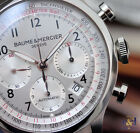 Baume & Mercier Capeland Chronograph 42 Steel on Leather Silver Arabic Automatic