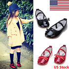 US New Toddler Girl Party Shoe Princess Dress Shoe Baby Flat Formal School Shoes