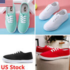 US Women Low Top casual Canvas Sneakers Sport Running Casual Athletic Shoes