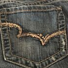 Big Star Buckle Maddie Vintage Aged Distressed Jeans Boot Cut 30xl 35 inseam