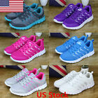 US Womens Sneakers Canvas Mesh Fashion Breathable Sports Running Casual Shoes