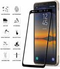 For Galaxy S8 Active Black Poetic HD Clear Tempered Glass Screen Protector