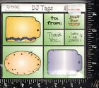 DJ Inkers Foam Mounted Rubber Stamp Set DJ Tags NEW