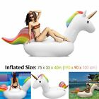 Large Inflatable Unicorn Water Float Raft Summer Sea Swim Pool Lounger Beach Fun