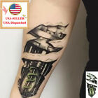 NEW Man Large Temporary Tattoos 3D Mechanical Arm Fake Transfer Tattoo Stickers