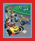 Disney Mickey Friends Lets Roll Race Car 100 Cotton Fabric by the panel