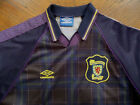 UMBRO OLD SCOTLAND Football Jersey Shirt LG Plaid SCOTTISH national soccer team
