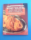 Weight Watchers Quick and Easy Menu Cookbook By WW International Staff