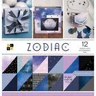 DCWV Paper Stack Double Sided 12X12 36 Pkg Zodiac 12 W Holographic Foil