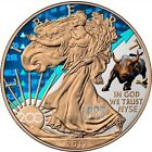 2017 1 Oz Silver AMERICAN EAGLE 200 YEARS NY EXCHANGE Coin 24k GOLD GILDED