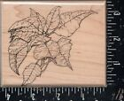 Mostly Animals Wood Mounted Rubber Stamp Lg Poinsettia