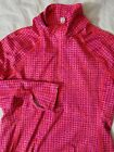 Under Armour Womens cold gear Half Zip Shirt Large Pink geometric