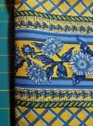 Bright yellow blue border fabric Sunflower Tuscan Sun by Free Spirit BTY OOP