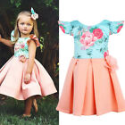 USA Boutique Flower Toddler Kids Girls Princess Pageant Party Formal Gown Dress