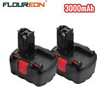 2X Floureon 14.4V 3000MAH Ni-MH Rechargeable Battery for BOSCH 13614 1661K 35614