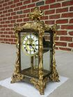 ANTIQUE ANSONIA VISCOUNT CRYSTAL REGULATOR MANTEL CLOCK NO RESERVE AUCTION