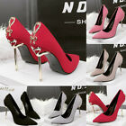 Sexy Women Party Stiletto Butterfly Metal High Heels Pointed Toes Wedding Shoes