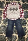 TCP The Childrens Place Outfit 3 Piece Set Jeans 2T EUC