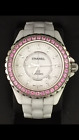 Chanel J12 Automatic 42mm H2011 White Ceramic Pink Sapphire Diamond Pre-owned