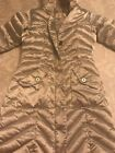 girls Lands End silver down puffer coat jacket size S 78 Great condition