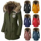 Warm Womens Coat Fur Collar Hooded Quilted Jacket Slim Winter Long Parka Outwear