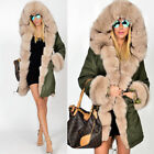 Hot New Womens Winter Ladies Long Warm Thick Parka Faux Fur Jacket Hooded Coat
