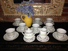 NORITAKE SAVANNAH 18 pcs *Cream/Sugar/8 Cups/8 Saucers *MINT #2031 Japan stamp