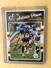 2016 Donruss Antonio Brown Steelers Signed Autograph Auto Card