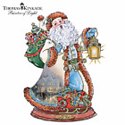 Thomas Kinkade Jingle Bells Carolling Santa Sculpture by Bradford Exchange