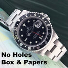 Rare Vintage Rolex GMT Master II 16760 Fat Lady Red Black Coke Mens SS Watch