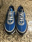 Nike Air Zoom Spiridon SPRDN used size 11 EGAL BLUE SILVER WHITE RED BLACK
