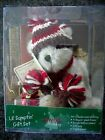Boyds Holiday Bears Lil Sumptin Gift Set Cocoa Bear with Kringle Bell Ornament
