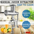 METAL MANUAL WHEAT GRASS VEGETABLE EXTRACTOR LEAFY GREENS HAND USE FRUIT JUICER